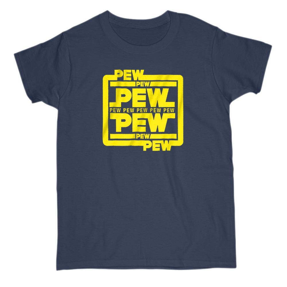 Pew Pew Pew Space War Stars Blaster Fight T-Shrit Graphic T-Shirt Tee BOXELS