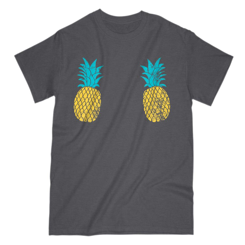 Pineapple Chest Cover Grunge Graphic Tee (men) Graphic T-Shirt Tee BOXELS