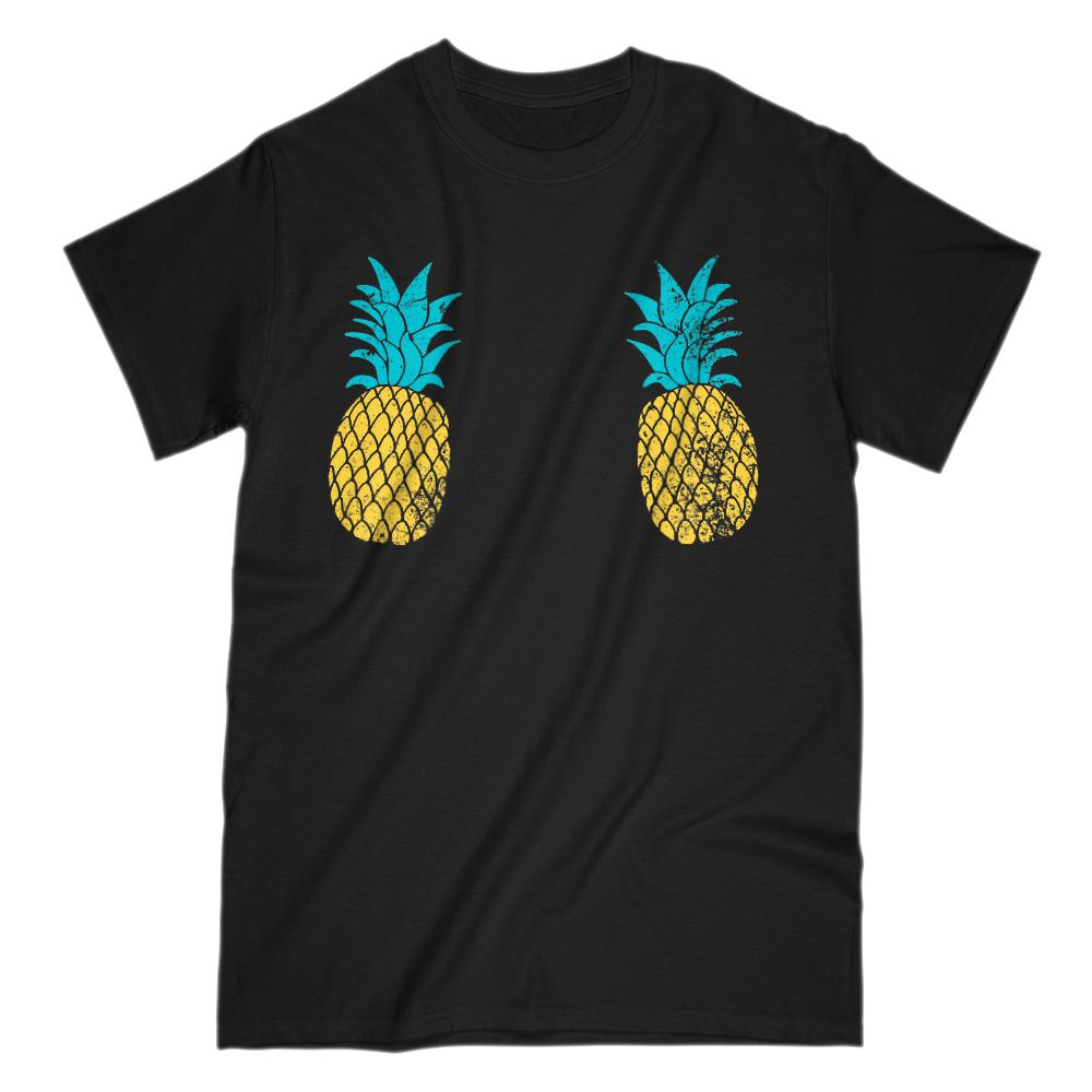 Pineapple Chest Cover Grunge Graphic Tee (men)