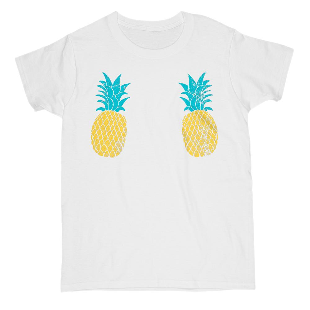 Pineapples Chest Cover (women) Graphic T-Shirt Tee BOXELS
