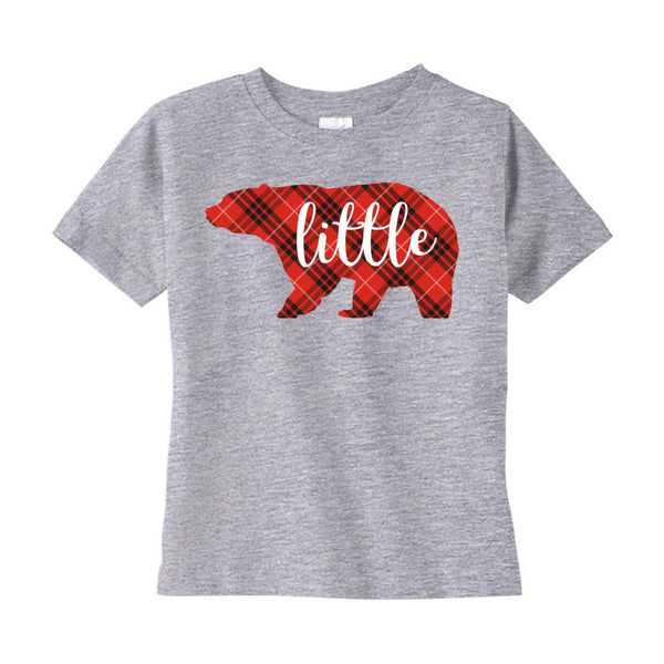 (Rabbit Skins 3321 Fine Jersey Tee) Little Bear Christmas Plaid Tee (Toddler Sizes) Graphic T-Shirt Tee BOXELS