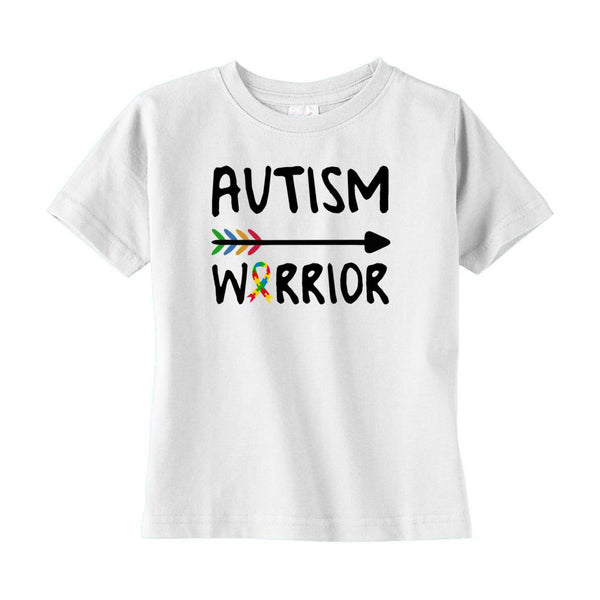 (Rabbit Skins Toddler T-Shirts) Autism Warrior Arrow Graphic T-Shirt Tee BOXELS
