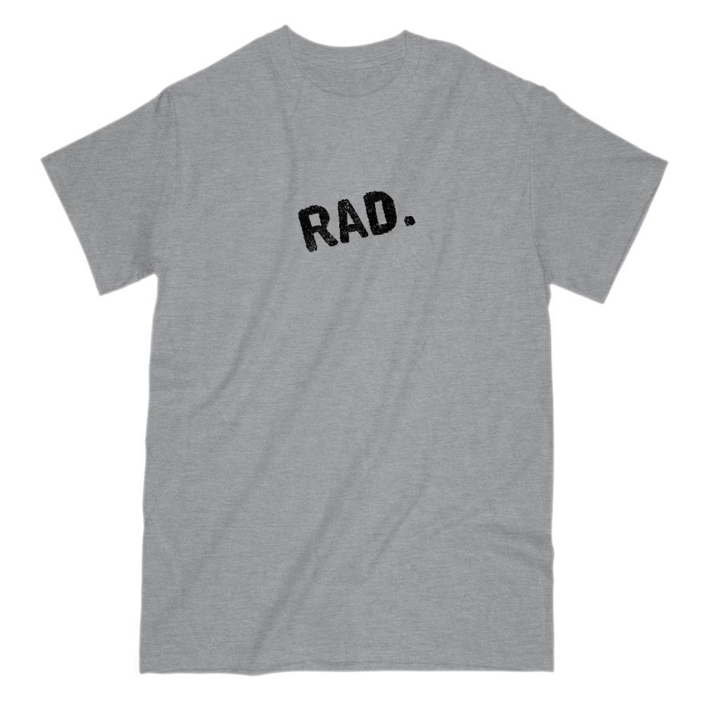 RAD. Cool, rad, awesome, simple, clean Graphic Saying T-shirt Graphic T-Shirt Tee BOXELS