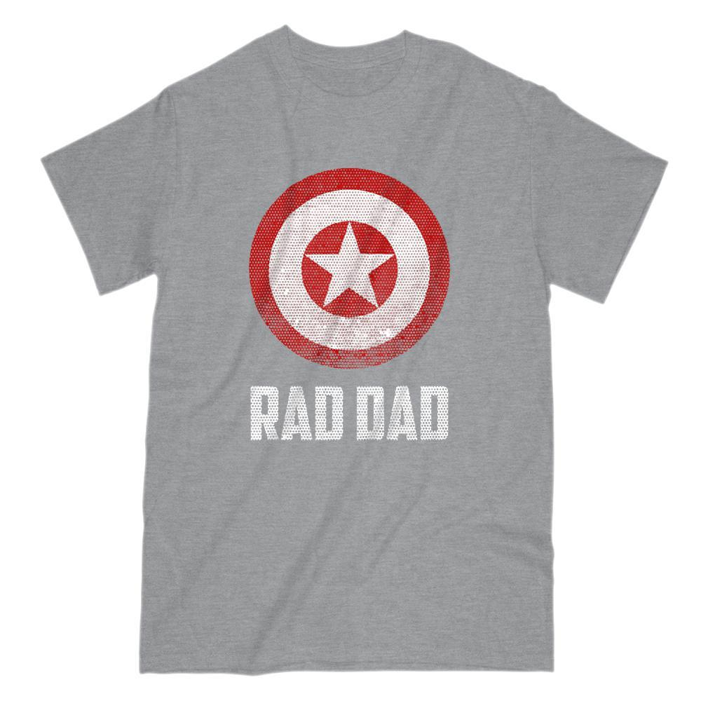 Rad Dad Shield (Captain of America) Parody Graphic T-Shirt Graphic T-Shirt Tee BOXELS