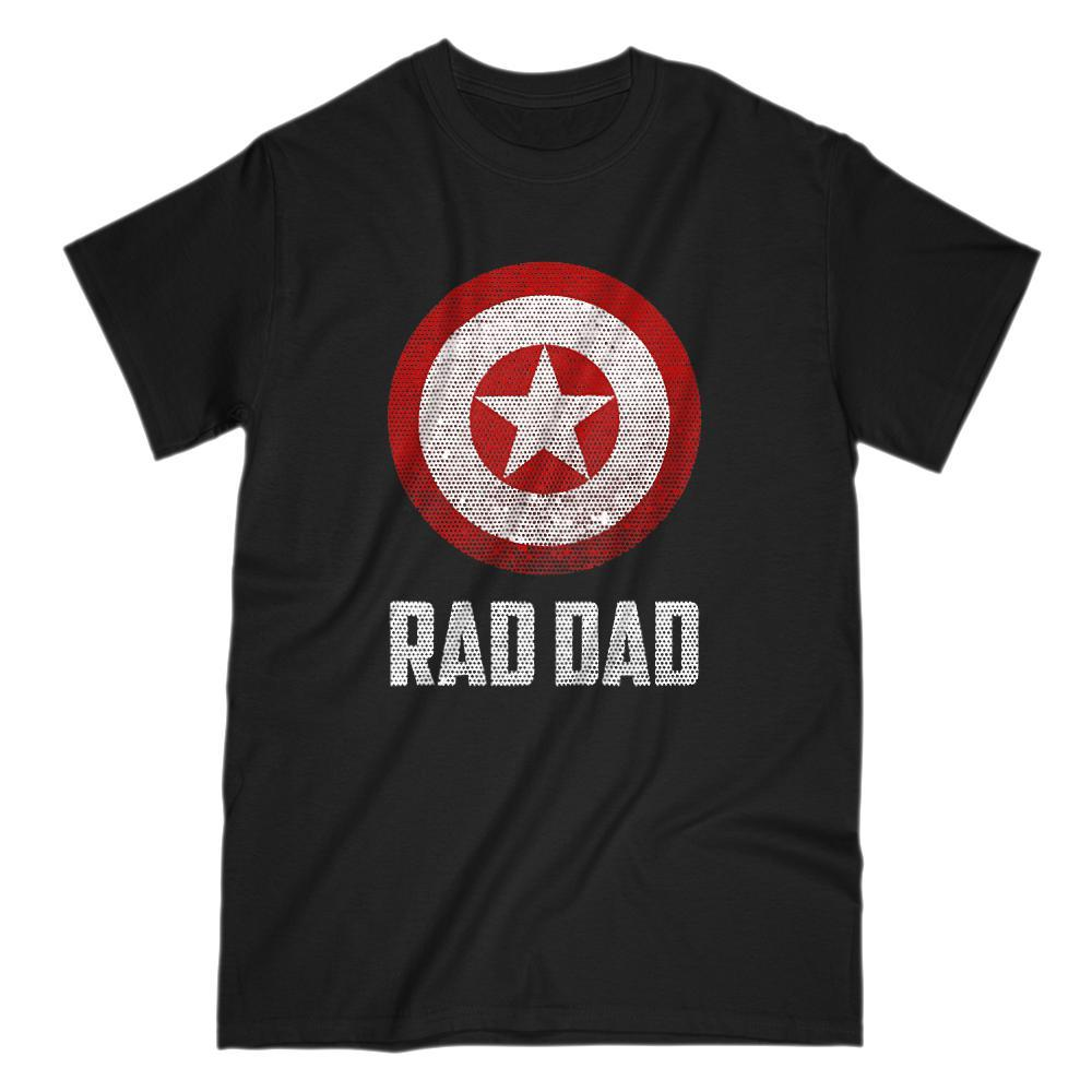 Rad Dad Shield (Captain of America) Parody Graphic T-Shirt