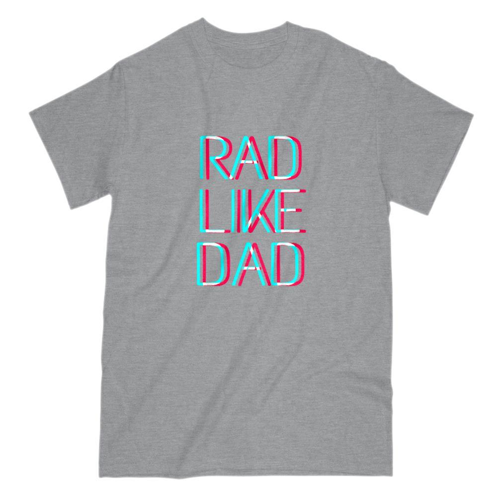Rad Like Dad 3D Text Graphic T-Shirt Graphic T-Shirt Tee BOXELS