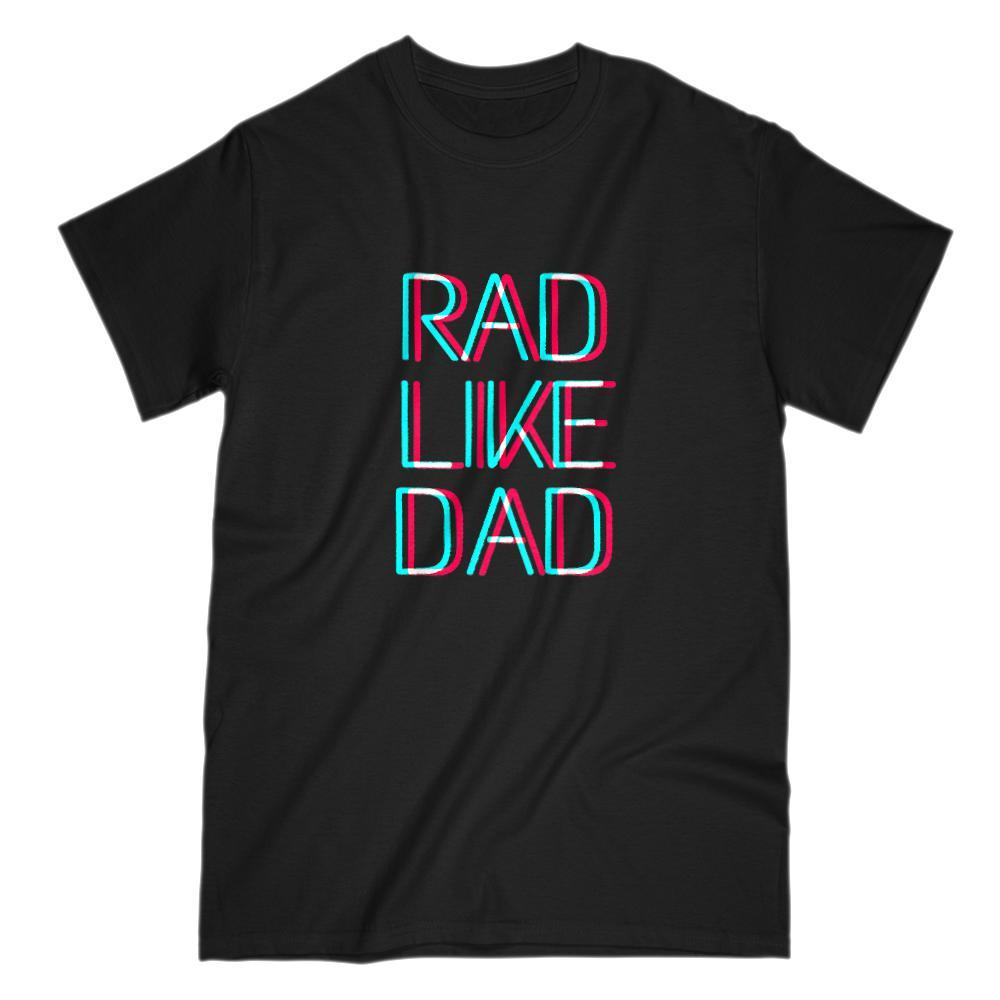 Rad Like Dad 3D Text Graphic T-Shirt