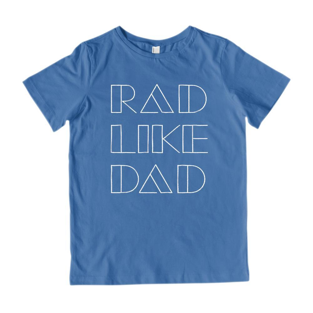 Rad Like Dad Retro Font Graphic T-Shirt Graphic T-Shirt Tee BOXELS