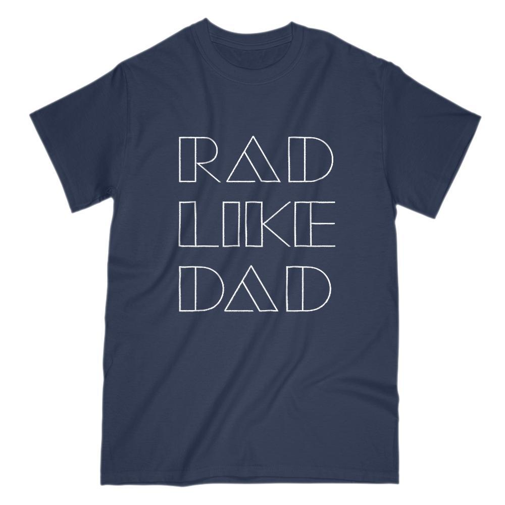 Rad Like Dad Retro Font Graphic T-Shirt