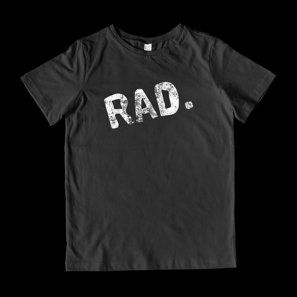Rad Slanted Grunge Graphic T-Shirt Graphic T-Shirt Tee BOXELS
