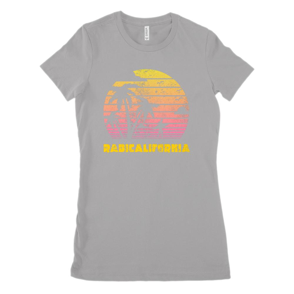 RadiCalifornia Sunset Palm Beach (Women's BC 6004 Soft Tee) Graphic T-Shirt Tee BOXELS