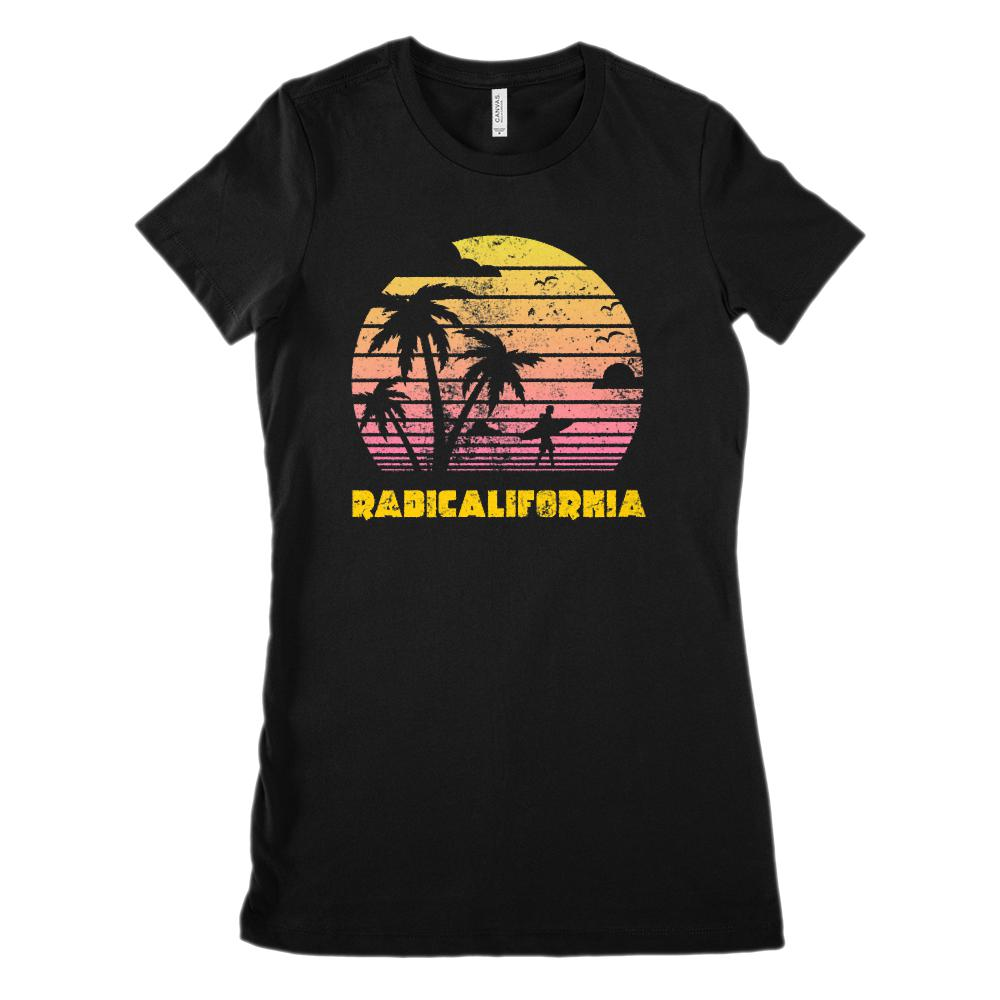 RadiCalifornia Sunset Palm Beach (Women's BC 6004 Soft Tee)