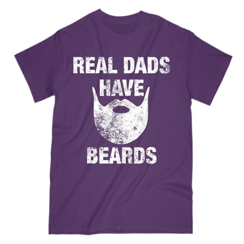 Real Dads Have Beards Graphic Bearded Grunge T-Shirt Graphic T-Shirt Tee BOXELS