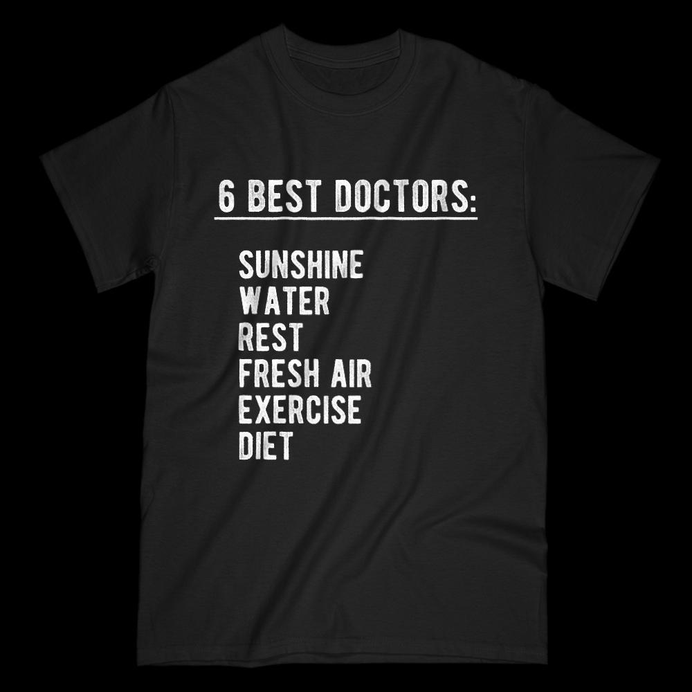 Six Best Doctors Graphic Sayings t shirt Graphic T-Shirt Tee BOXELS