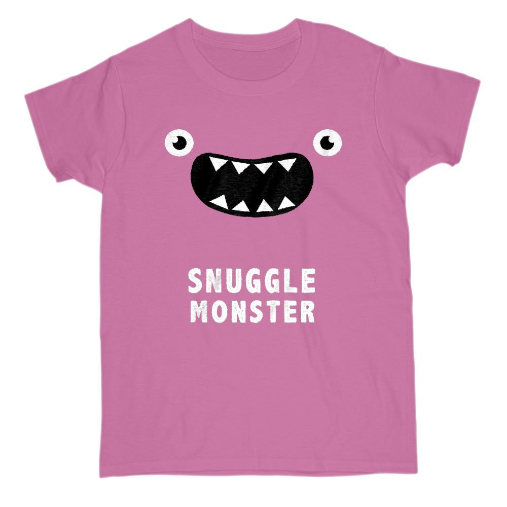 Snuggle Monster Funny Face Graphic Tee Graphic T-Shirt Tee BOXELS