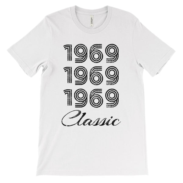 (Soft BC 3001 Tee) Made in the Year 1969 3 Yr Classic (black) Graphic T-Shirt Tee BOXELS