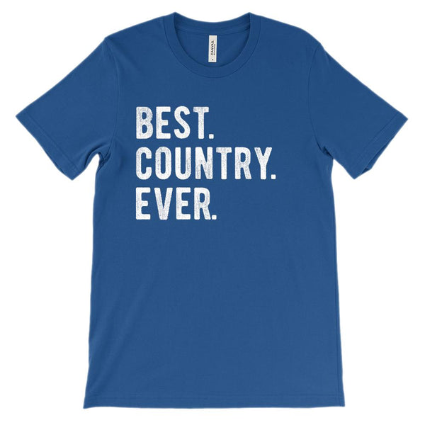(Soft BC 3001 Unisex) Best. Country. Ever. Graphic T-Shirt Tee BOXELS