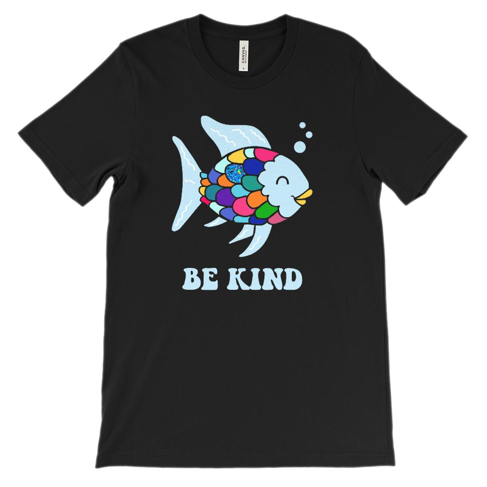 (Soft BC 3001 Unisex - Darks) Be Kind Fish Parody Reading Children's Books