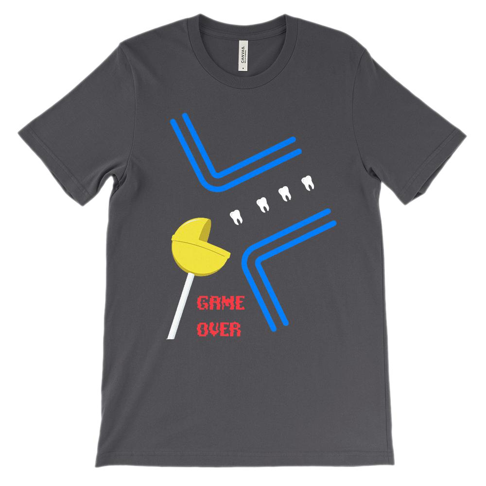 (Soft BC 3001 Unisex) Dentist Game Over Lolly Graphic T-Shirt Tee BOXELS