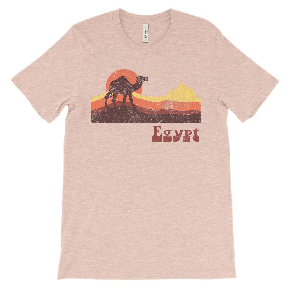 (Soft BC 3001 Unisex) Egypt Camel Graphic T-Shirt Tee BOXELS