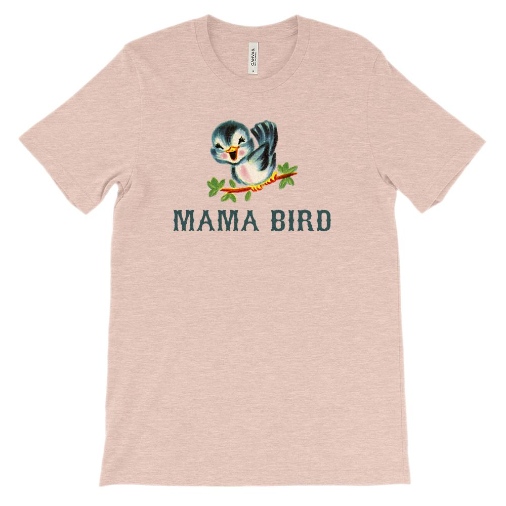 (Soft BC 3001 Unisex) Mama Bird Vintage Graphic T-Shirt Tee BOXELS