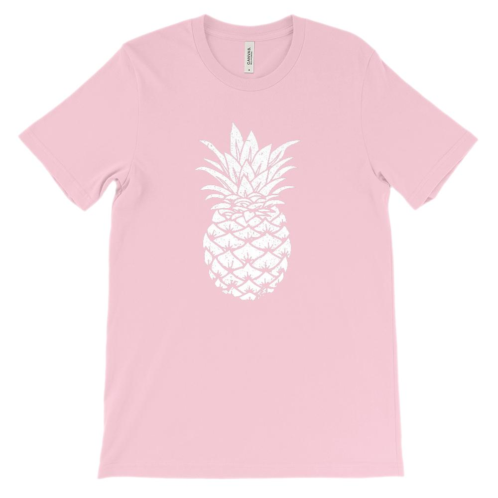 (Soft BC 3001 Unisex) Pineapple Silhouette (white)