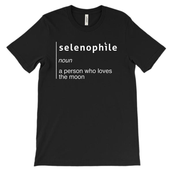 (Soft BC 3001 Unisex) Selenophile Moon Lover Graphic T-Shirt Tee BOXELS