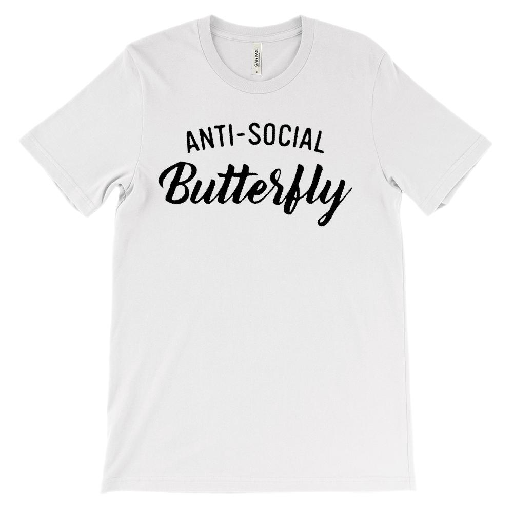 (Soft Unisex BC 3001) Anti-Social Butterfly