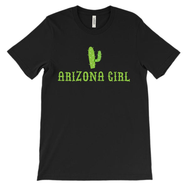 (Soft Unisex BC 3001) Arizona Girl Cactus Graphic T-Shirt Tee BOXELS