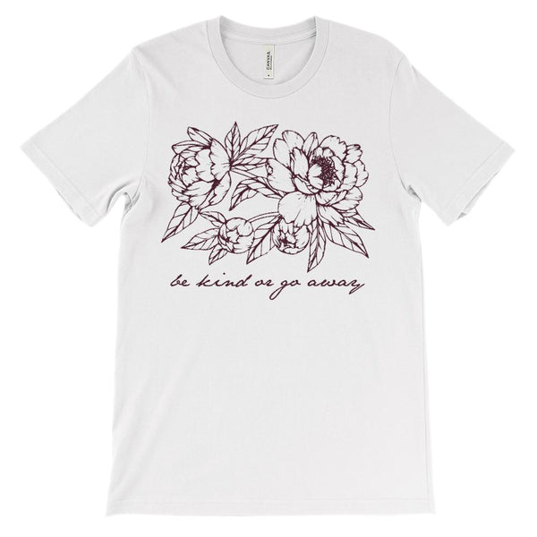 (Soft Unisex BC 3001) be kind or go away Graphic T-Shirt Tee BOXELS
