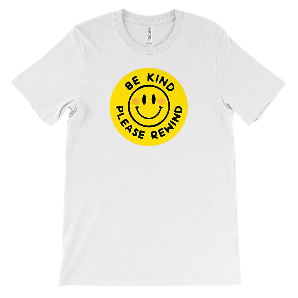 (Soft Unisex BC 3001) Be Kind Please Rewind 80s Throwback VHS Graphic T-Shirt Tee BOXELS