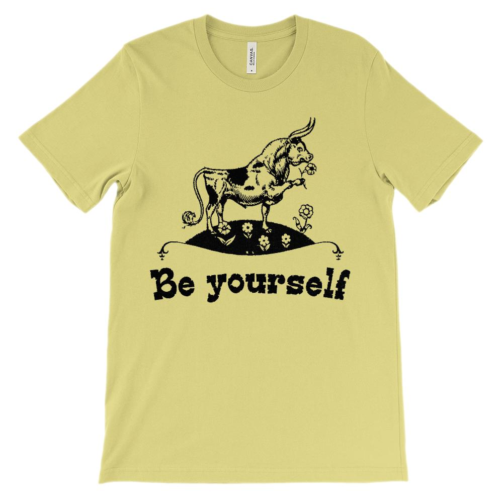 (Soft Unisex BC 3001) Be Yourself Bull Graphic T-Shirt Tee BOXELS