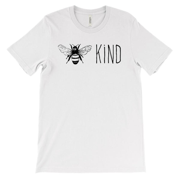 (Soft Unisex BC 3001) Bee Kind (black) Graphic T-Shirt Tee BOXELS
