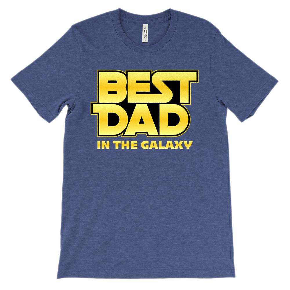 (Soft Unisex BC 3001) Best Dad in the Galaxy Graphic T-Shirt Tee BOXELS