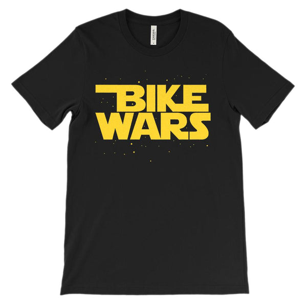 (Soft Unisex BC 3001) Bike Space Wars in the Stars Graphic T-Shirt Tee BOXELS