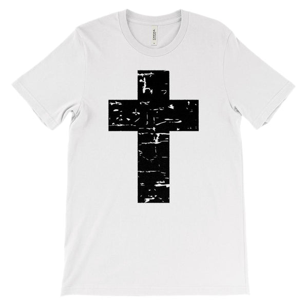 (Soft Unisex BC 3001) Black Cross Graphic T-Shirt Tee BOXELS