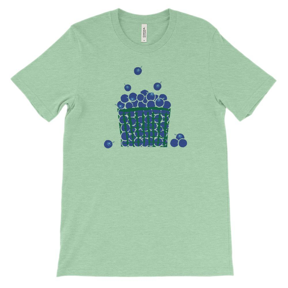 (Soft Unisex BC 3001) Blueberry Basket Graphic T-Shirt Tee BOXELS