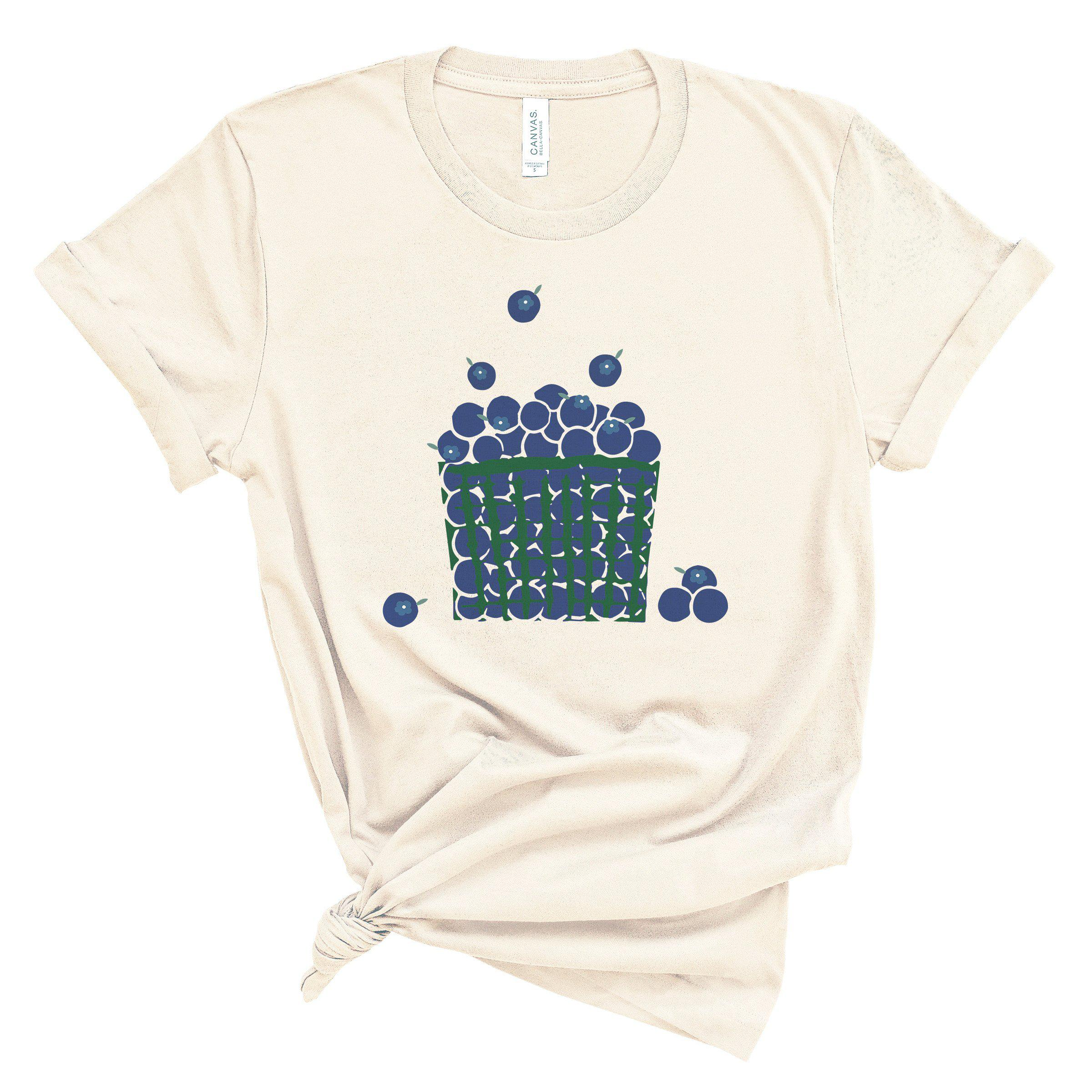 (Soft Unisex BC 3001) Blueberry Basket