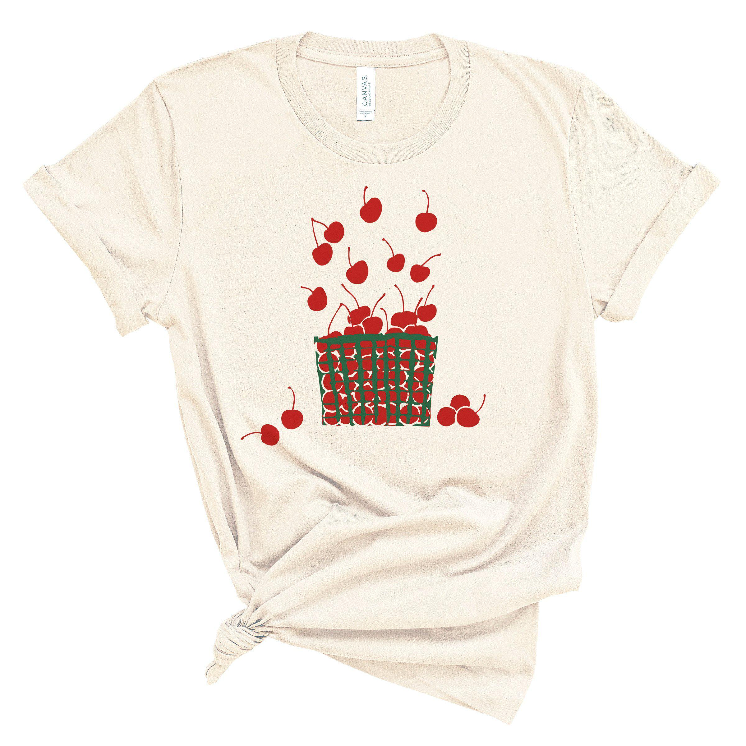 (Soft Unisex BC 3001) Cherries Basket