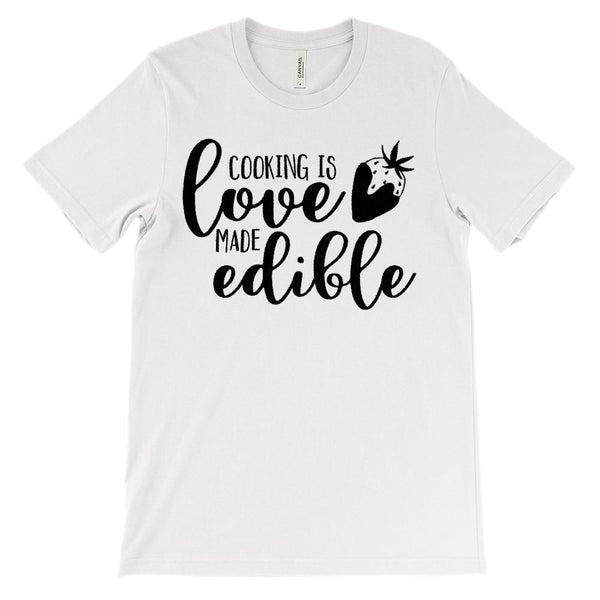 (Soft Unisex BC 3001) Cooking is Love Made Edible Strawberry Chocolate Graphic T-Shirt Tee BOXELS