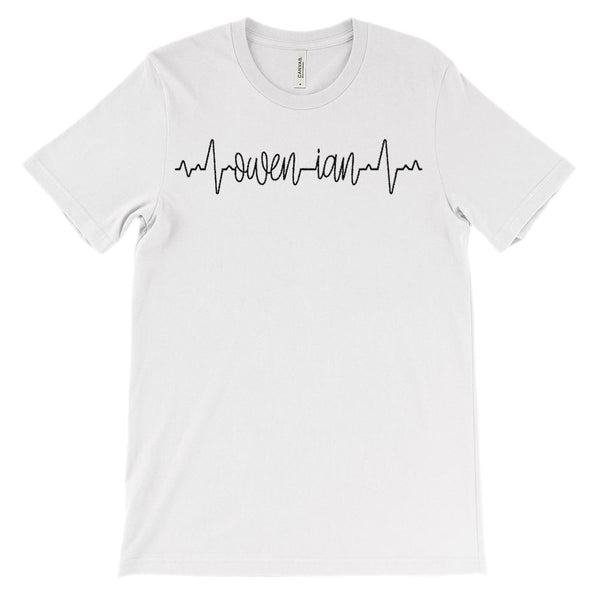 (Soft Unisex BC 3001) Custom Heartbeat Pulse (Owen & Ian Black) Graphic T-Shirt Tee BOXELS