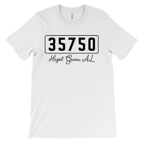 (Soft Unisex BC 3001) Custom Zipcode (35750, Hazel Green, AL) Graphic T-Shirt Tee BOXELS
