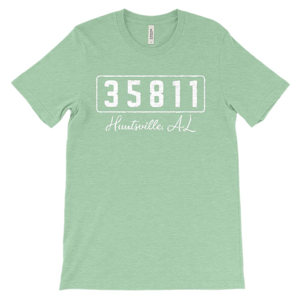 (Soft Unisex BC 3001) Custom Zipcode (35811, Huntsville, AL) Graphic T-Shirt Tee BOXELS