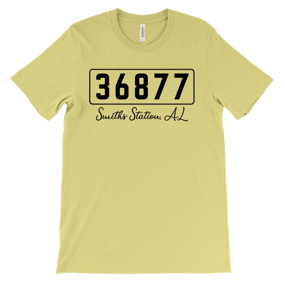 (Soft Unisex BC 3001) Custom Zipcode (36877, Smiths Station, AL) Graphic T-Shirt Tee BOXELS