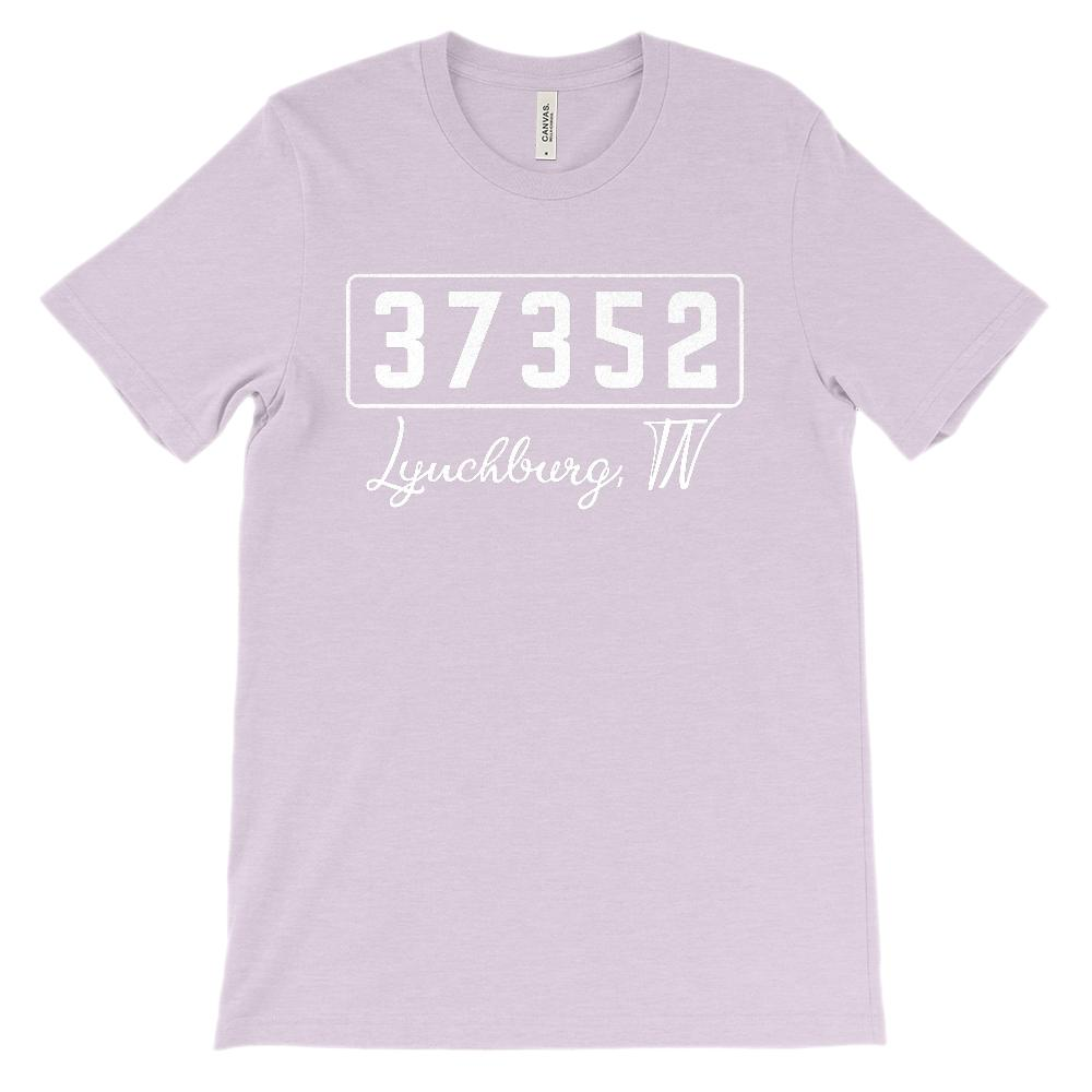 (Soft Unisex BC 3001) Custom Zipcode (37352, Lynchburg, TN) Graphic T-Shirt Tee BOXELS