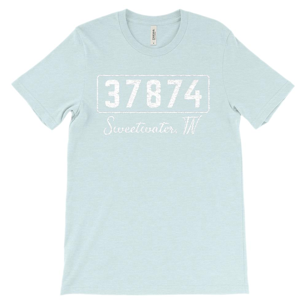 (Soft Unisex BC 3001) Custom Zipcode (37874, SWEETWATER, TN) Graphic T-Shirt Tee BOXELS