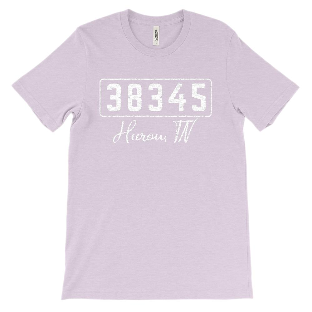 (Soft Unisex BC 3001) Custom Zipcode (38345, Hurou, TN) Graphic T-Shirt Tee BOXELS