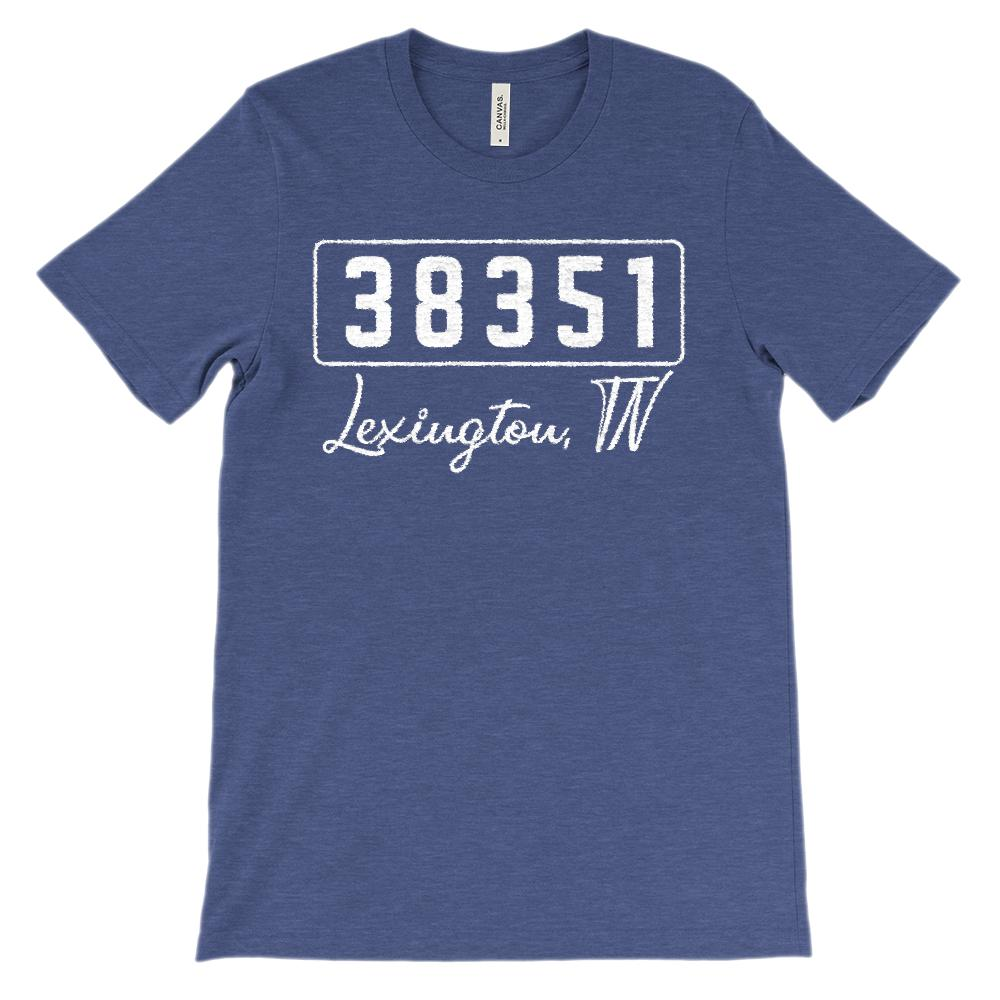 (Soft Unisex BC 3001) Custom Zipcode (38351, Lexington, TN) Graphic T-Shirt Tee BOXELS