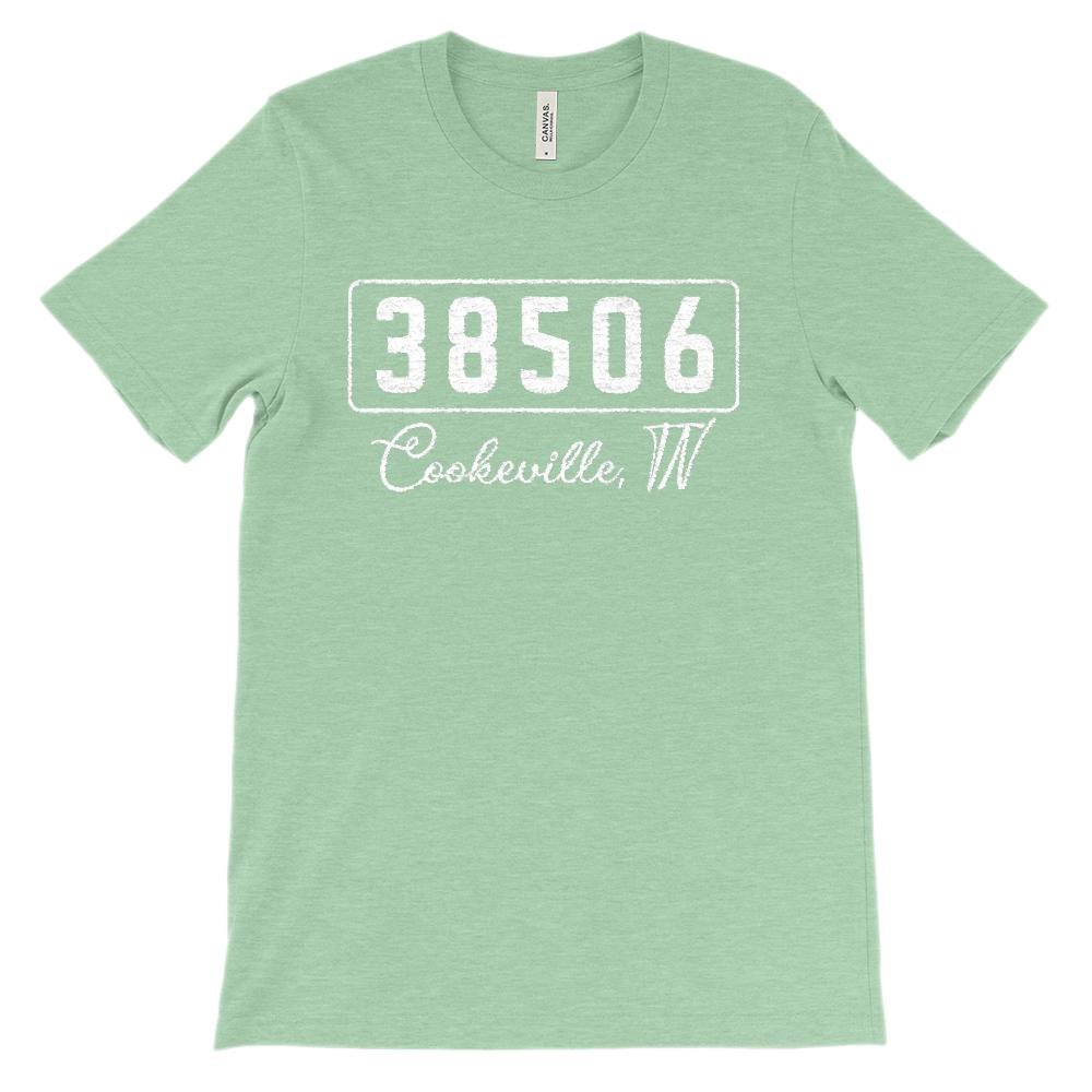 (Soft Unisex BC 3001) Custom Zipcode (38506, Cookeville, TN) Graphic T-Shirt Tee BOXELS