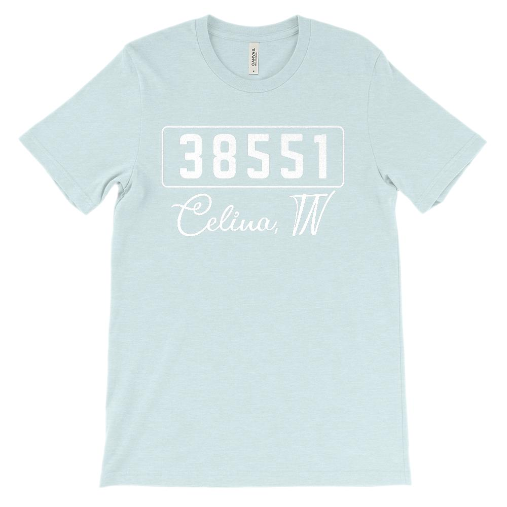 (Soft Unisex BC 3001) Custom Zipcode (38551, Celina, TN) Graphic T-Shirt Tee BOXELS